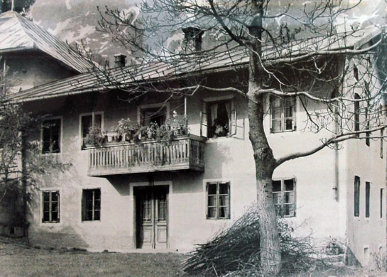 Domačija Simona Rutarja. Vir: Tolminski muzej